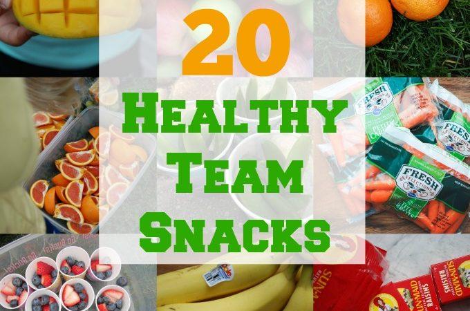 20 Healthy Team Snacks