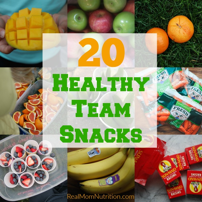 20 Healthy Team Snacks