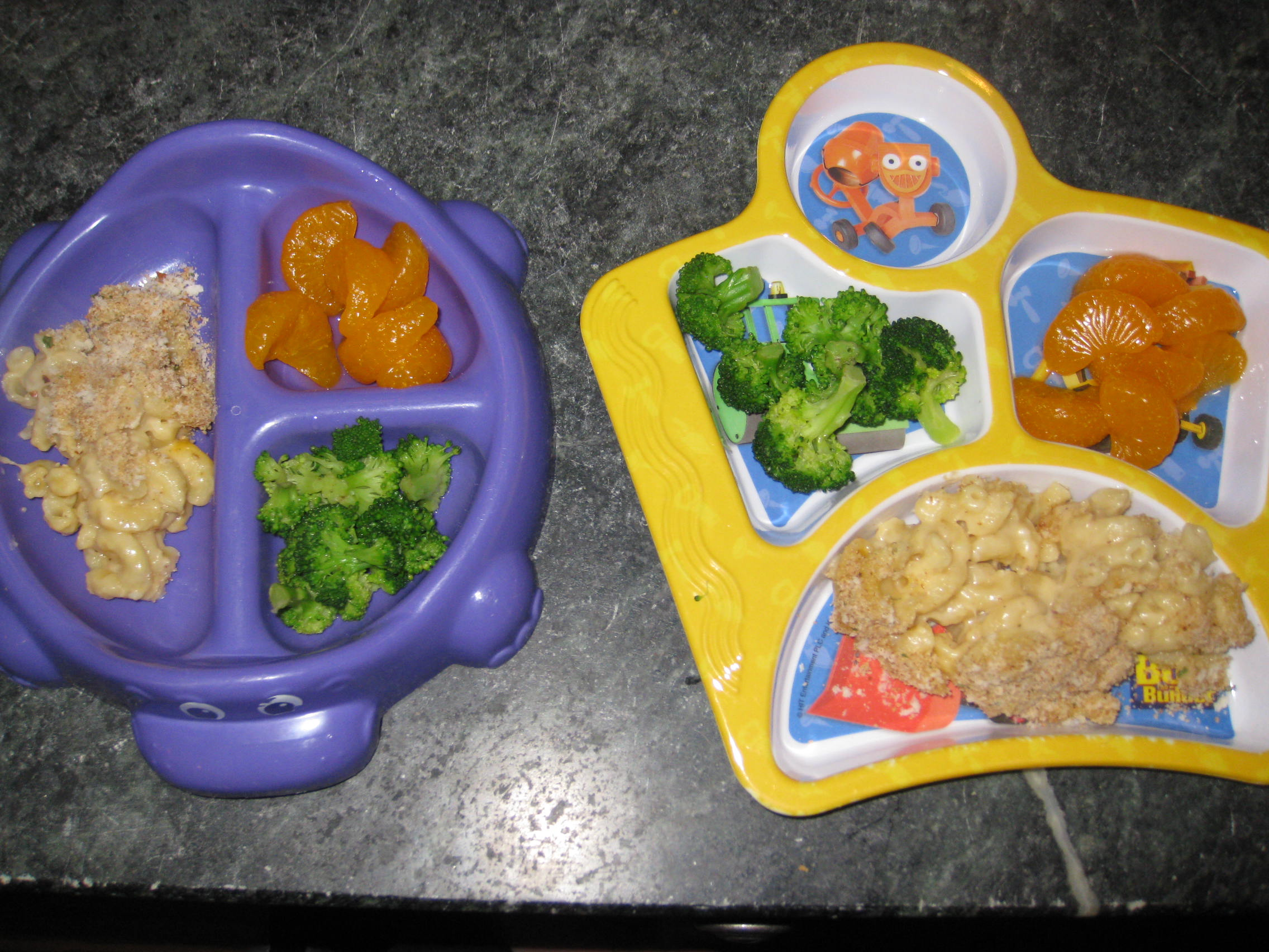Mealtime With Little Kids: Before & After Plates