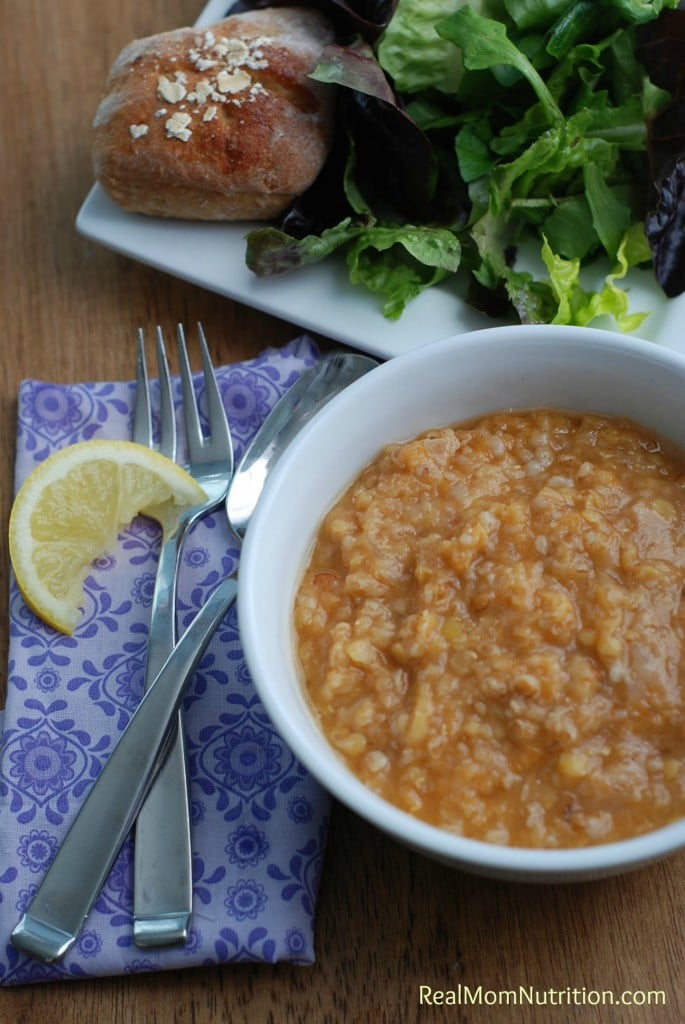 Turkish Red Lentil Soup from Real Mom Nutrition