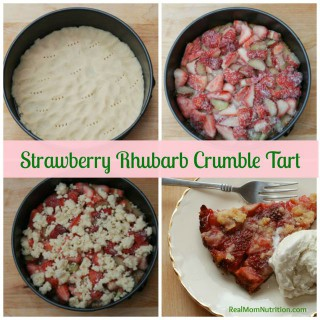 Strawberry Rhubarb Crumble Tart by Real Mom Nutrition