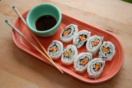how to make sushi rice vinegar mixture