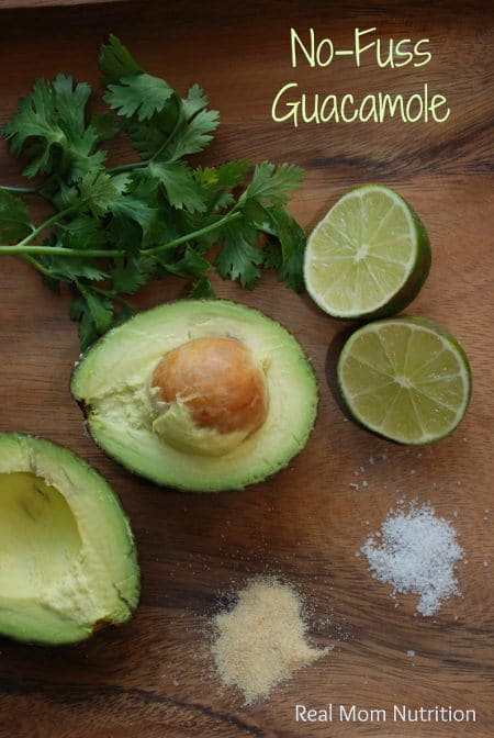 No Fuss Guacamole {from Real Mom Nutrition}