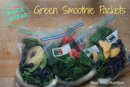 Make Ahead Green Smoothie Packets from Real Mom Nutrition