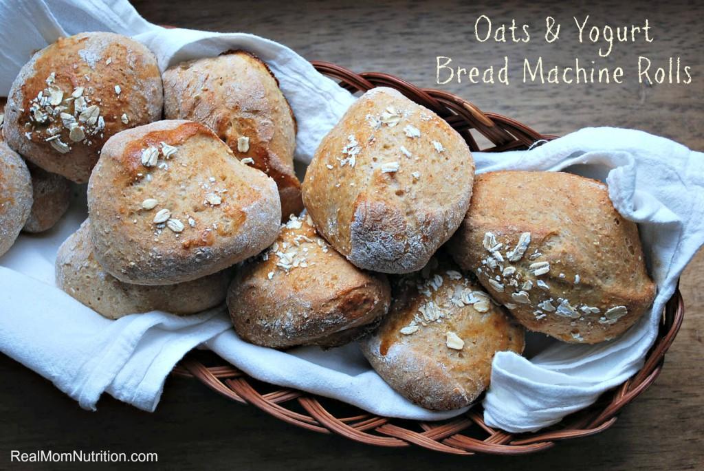 Oats & Yogurt Bread Machine Rolls