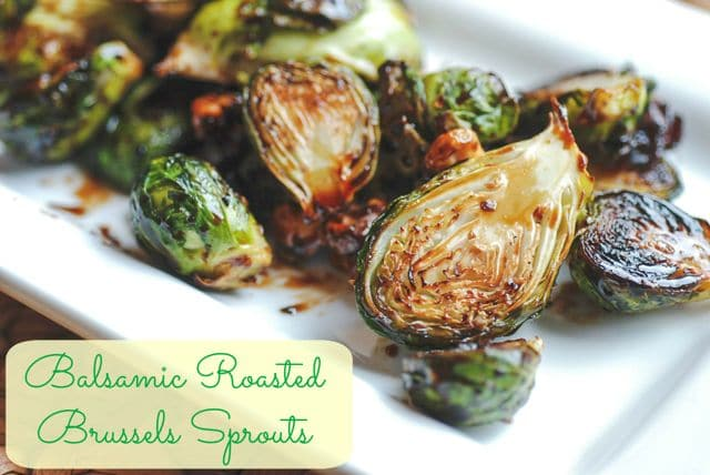 Roasted Balsamic Brussels Sprouts Recipe — Dishmaps