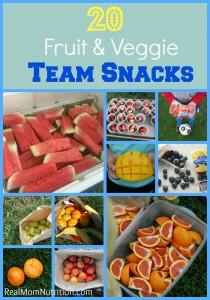 20 Fruit & Veggie Team Snacks