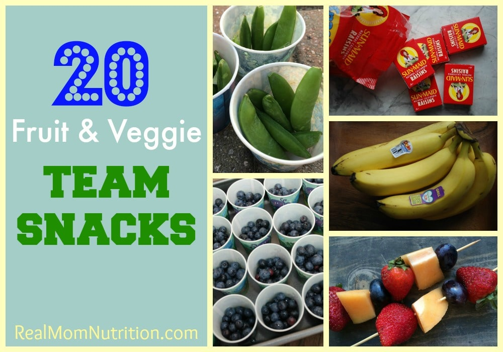 20 Fruit & Veggie Team Snacks by Real Mom Nutrition