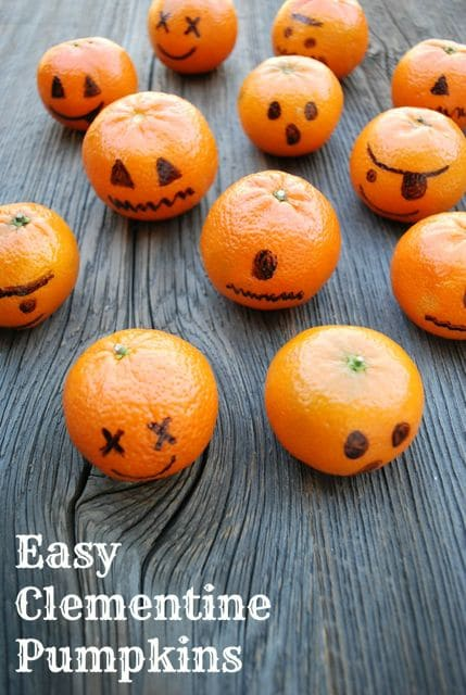 Clementine Pumpkins: Healthy Treats for Classroom Halloween Parties