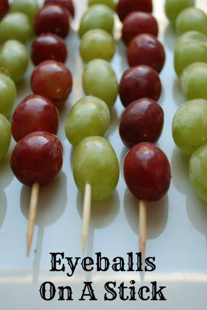 Eyeballs on a Stick: Healthy Treats for Classroom Halloween Parties