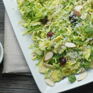 Cherry & Almond Brussels Sprouts Salad
