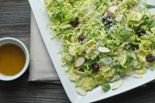 Cherry & Almond Brussels Sprouts Salad -- Real Mom Nutrition