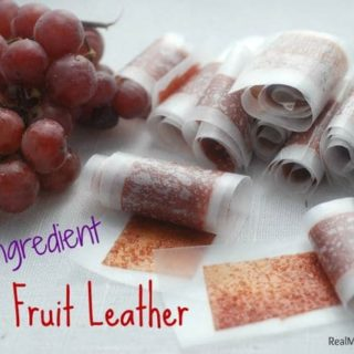 Homemade Grape Fruit Leather