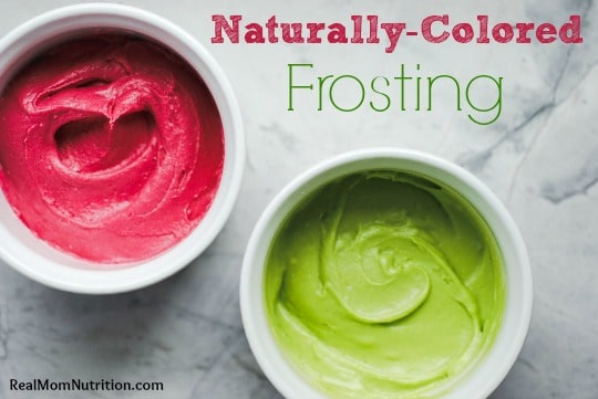 Naturally-Colored Frosting by Real Mom Nutrition