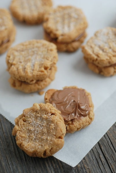 Peanut Butter Cookie Sandwiches from Real Mom Nutrition