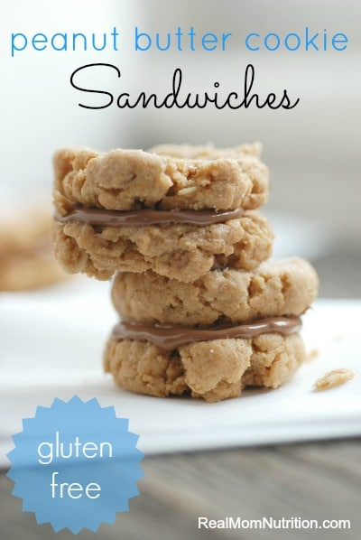 Peanut Butter Cookie Sandwiches by Real Mom Nutrition