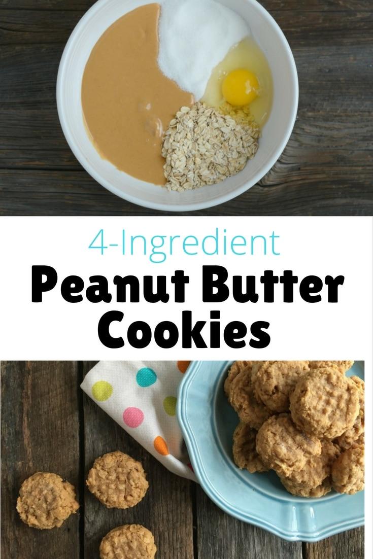 4-Ingredient Peanut Butter Cookies
