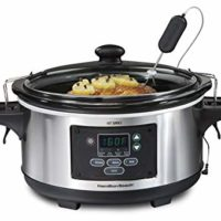 Hamilton Beach Portable 6-Quart Set & Forget Digital Programmable Slow Cooker