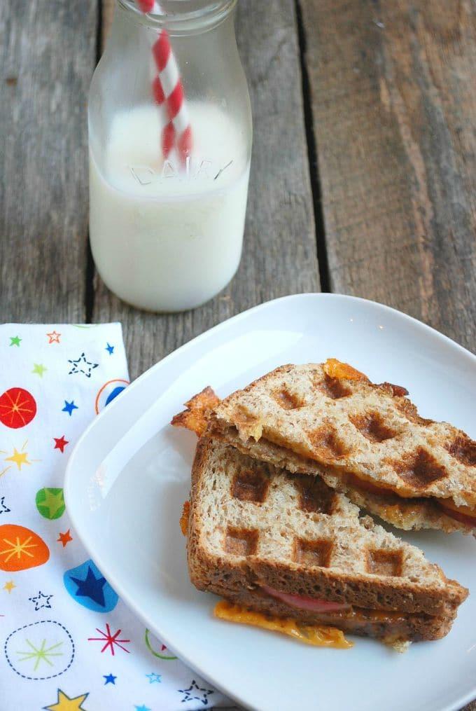 Apple Cheddar Wafflwich -- Real Mom Nutrition