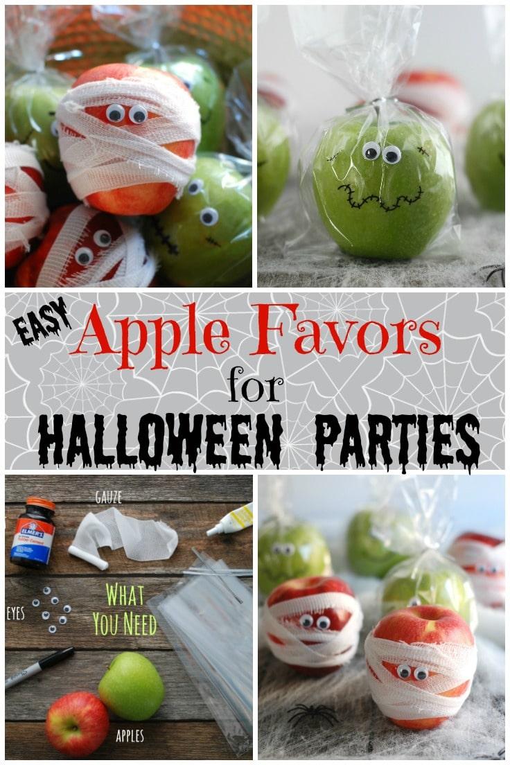 Apple Favors for Halloween