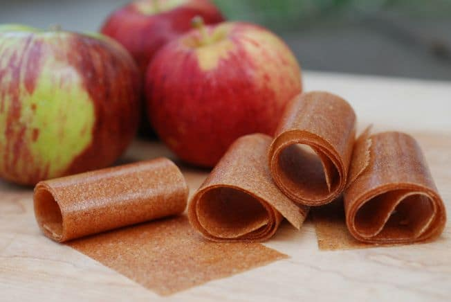 Apple Cinnamon Fruit Leather -- Real Mom Nutrition