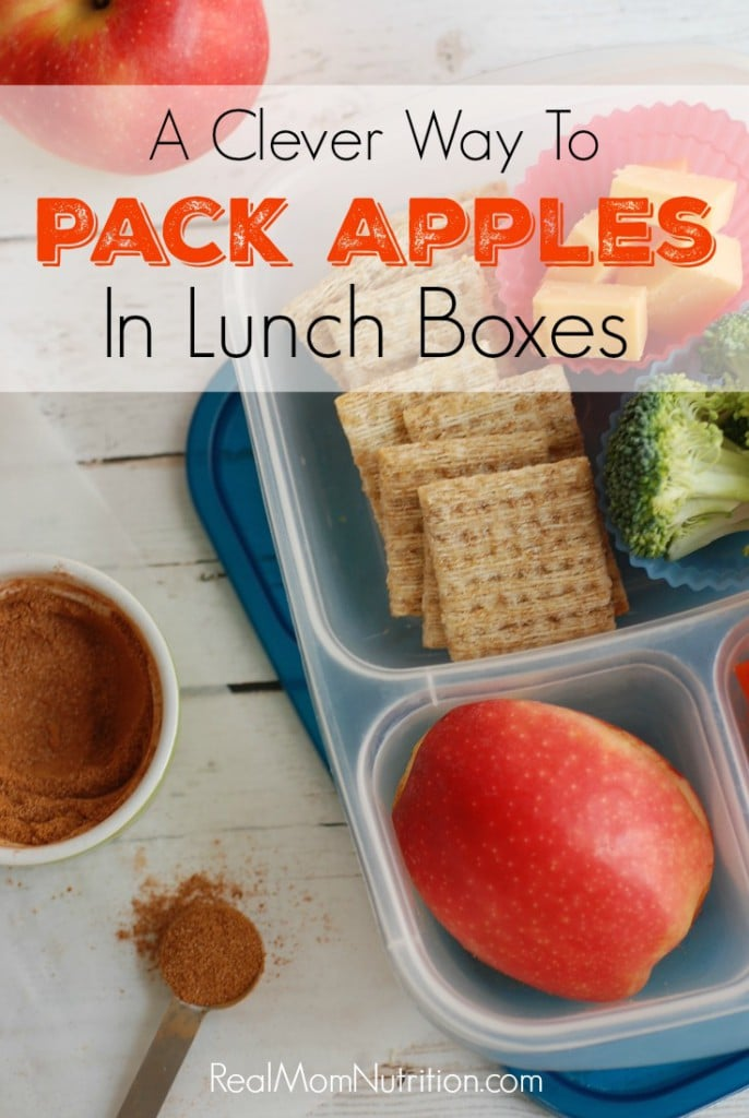 how to pack apples in lunch boxes