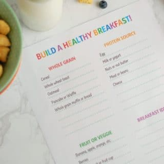 Teach Your Kids How To Build A Healthy Breakfast (Free Printable)