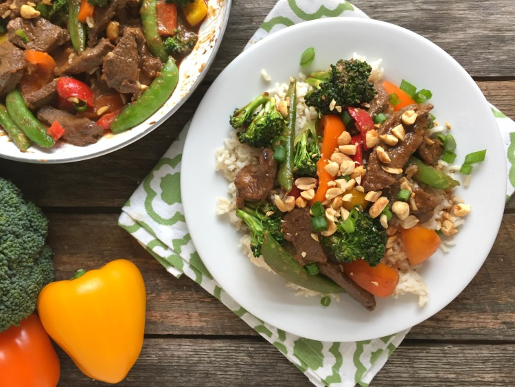 Beef Stir Fry With Peanut Sauce