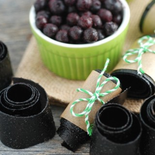 Homemade Wild Blueberry Fruit Leather