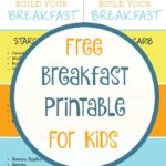 Free Breakfast Printable for Kids