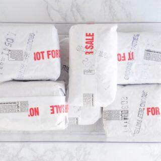bulk meat in freezer bin