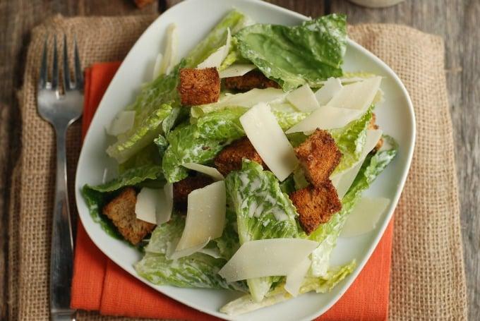 Lighter Caesar Salad