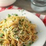 Whole Wheat Spaghetti Carbonara