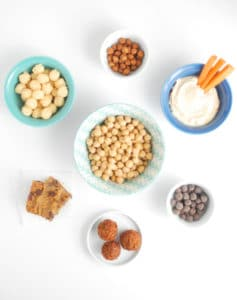 Foods made with chickpeas