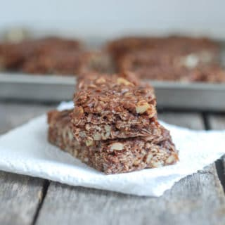 Homemade chocolate granola bars