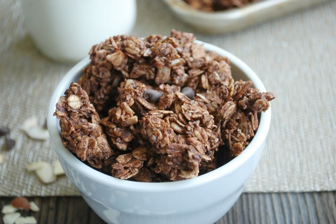 Double Chocolate Almond Granola -- Real Mom Nutrition