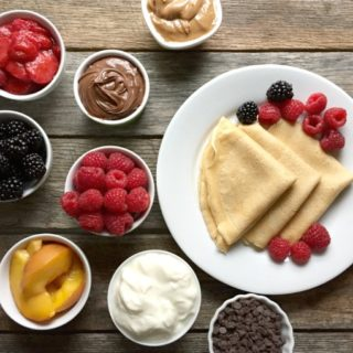 Whole Wheat Crepe Bar