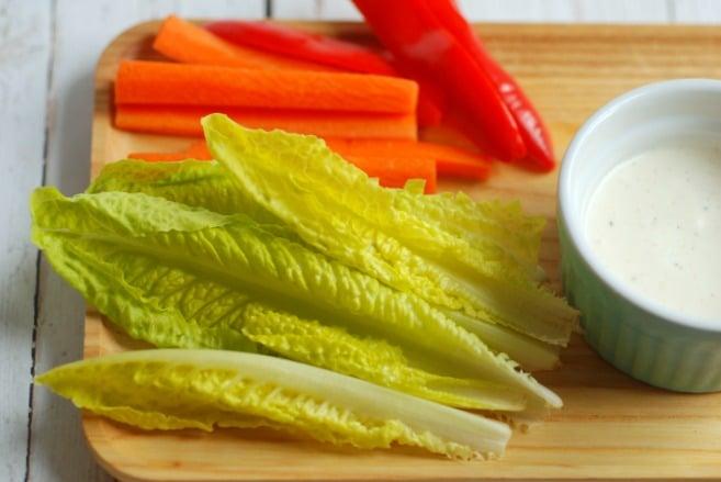 Salad kids can dip!