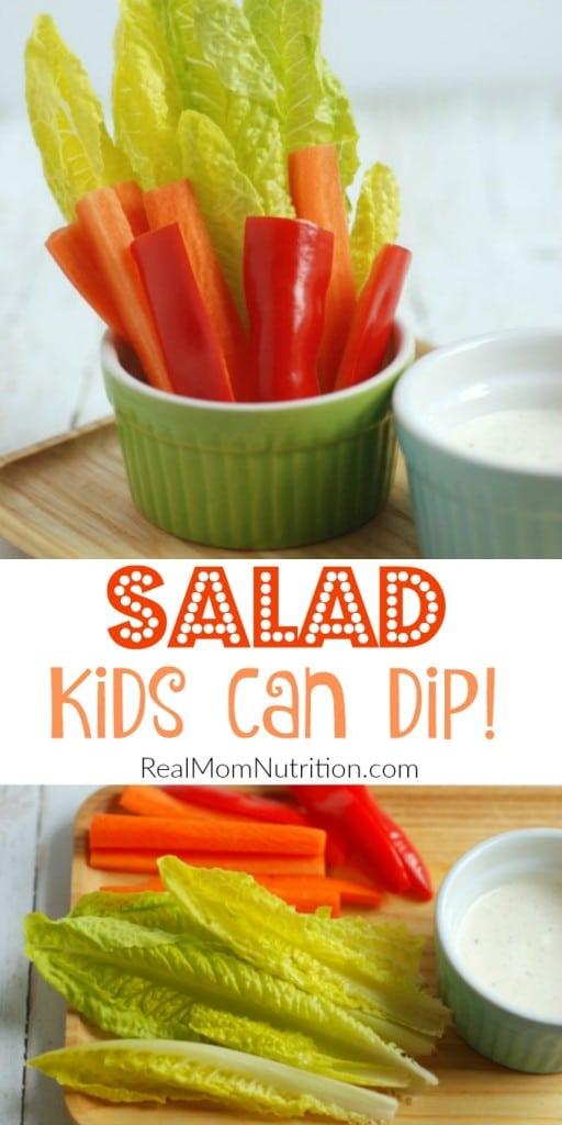 A salad kids can dip!