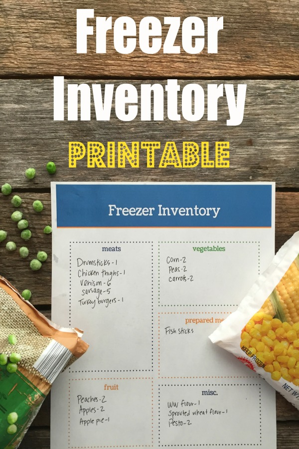 Stay organized with this Free Freezer Inventory Printable