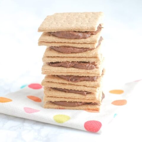 Graham crackers with frosting