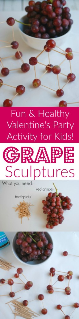 Grape Sculptures make a simple and healthy class party activity. This was a BIG hit with my son's first grade class.