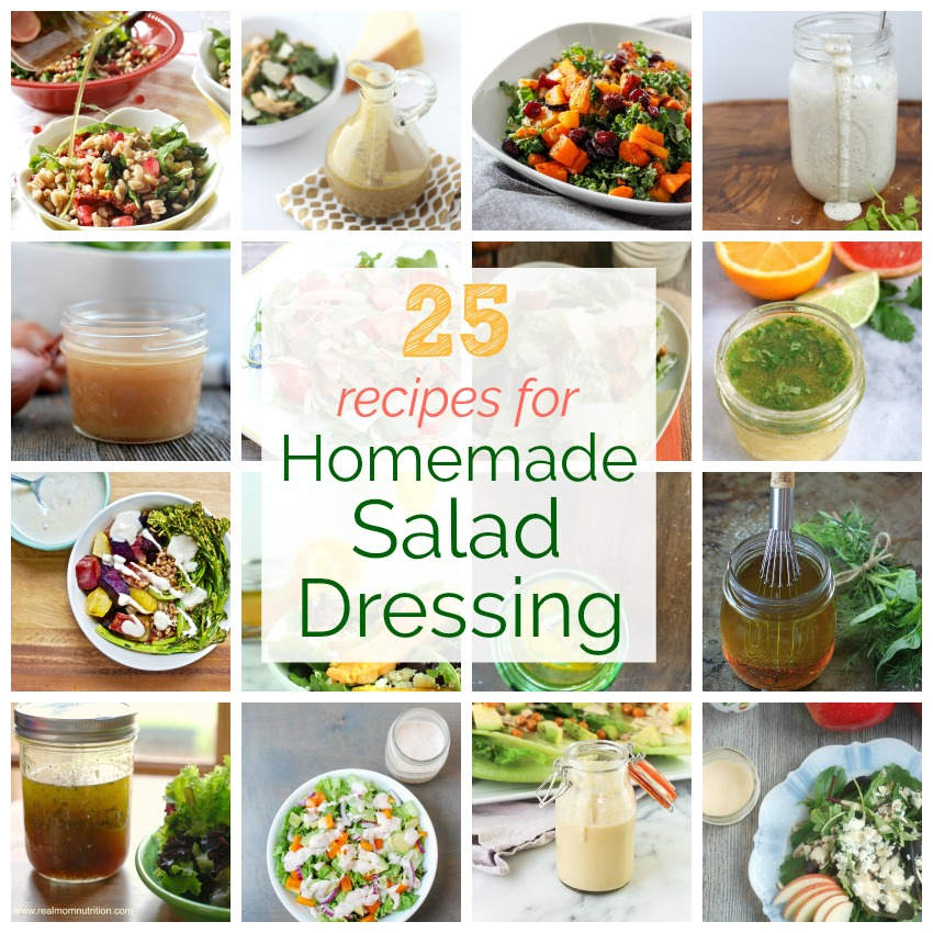 25 Recipes for Homemade Salad Dressing