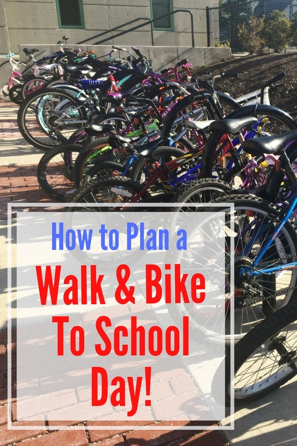 How To Plan A Walk & Bike to School Day--an easy way to get students active!
