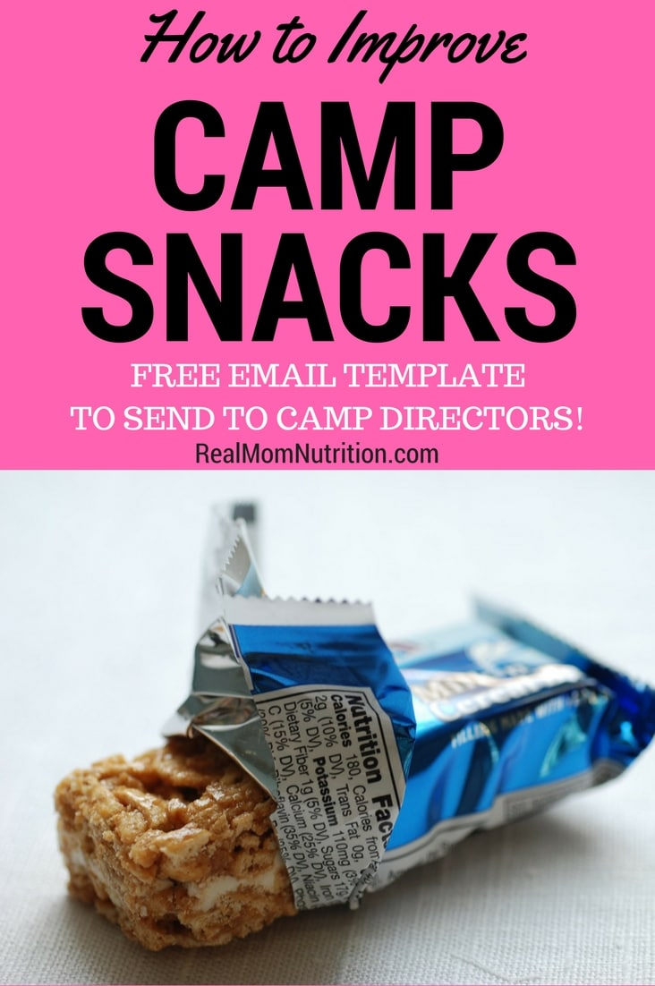 How to Improve Camp Snacks--from junky to healthy!