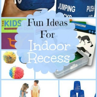 Supplies & Ideas For Active Indoor Recess