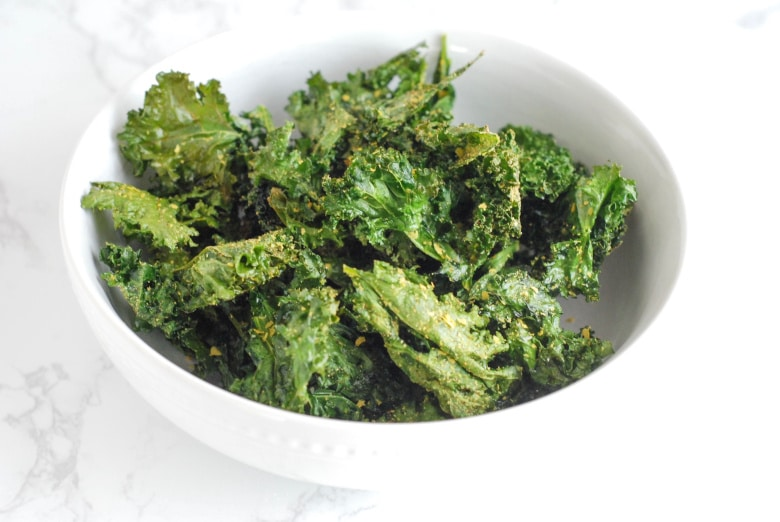 Kale Chips in a bowl