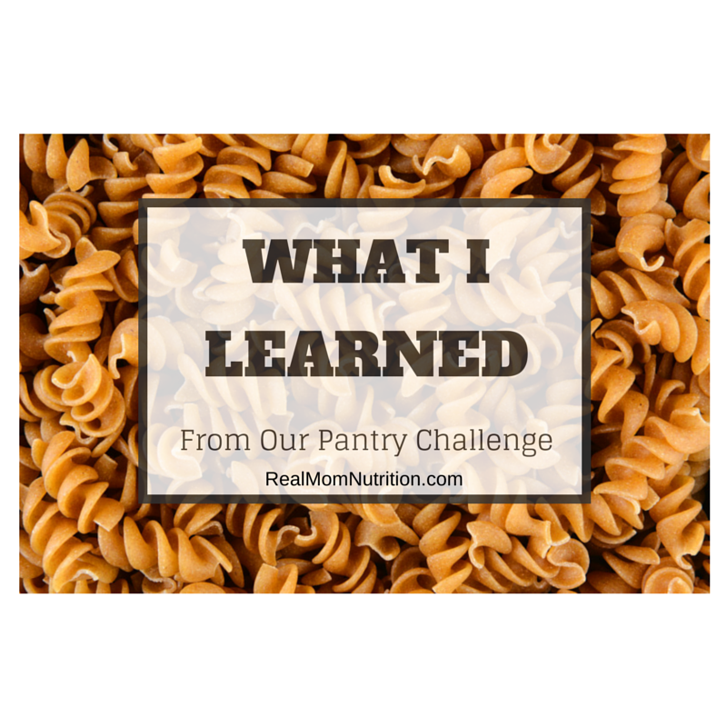 Lessons Learned from the Pantry