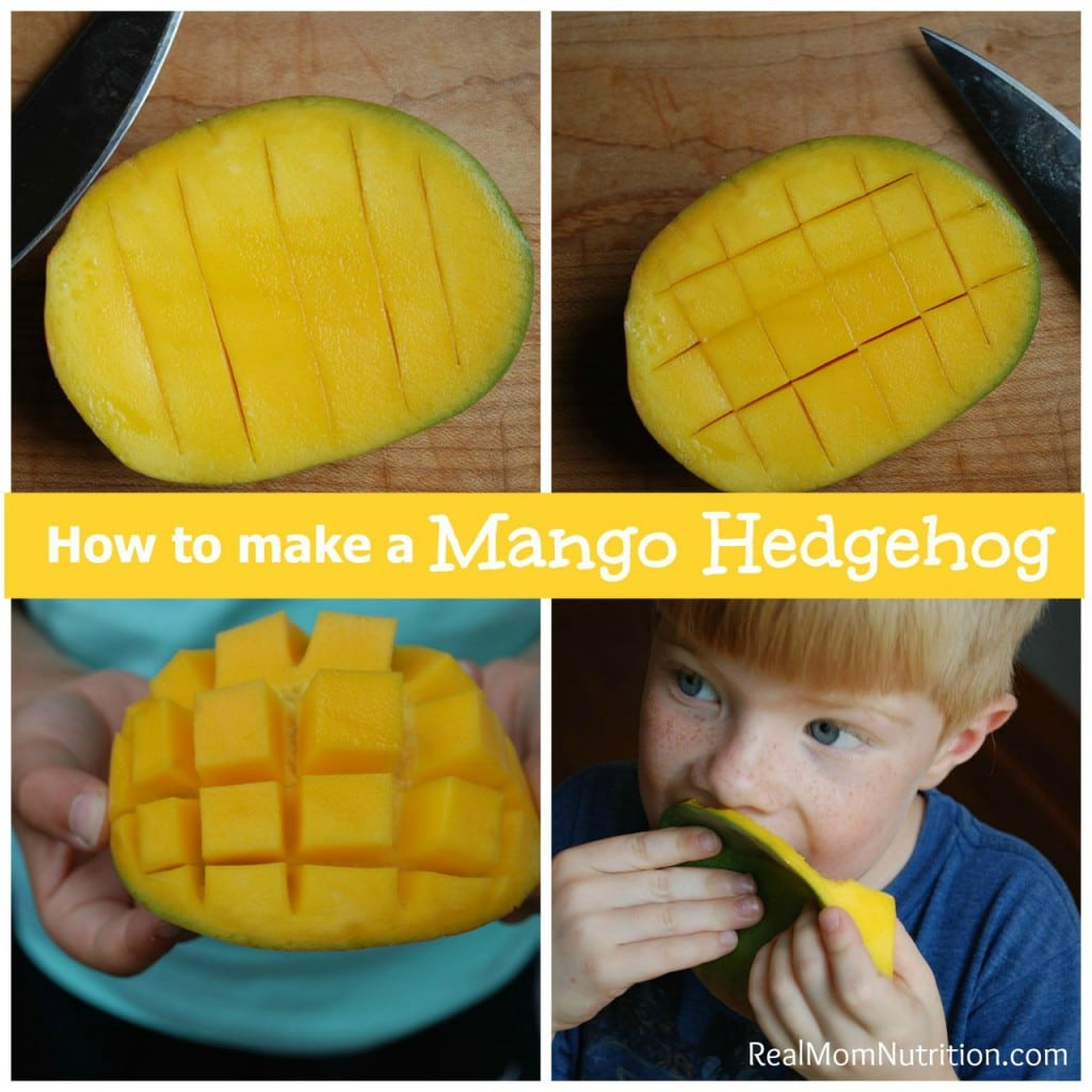 "How to Cut Mango Into a Fun ""Hedgehog"" Shape"