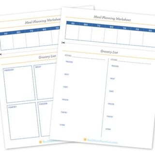 Meal Planning Worksheets